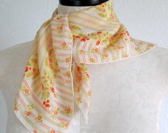Baar & Beards Inc. Vintage Floral Silk Scarf Made in Japan