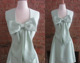 1960s Jerry Silverman mint green dress   60's Mid Century Classic Old Hollywood   S   A Scoop of Pistache!