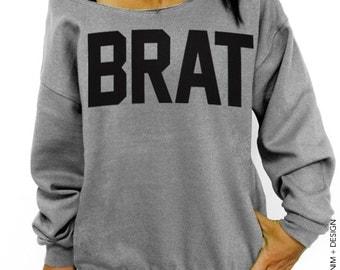 Brat -  Gray Slouchy Oversized Sweatshirt