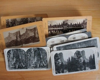 13 U.S. Scenery Stereo Photo Cards c1900