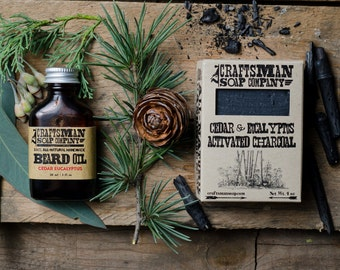 Beard Care Kit. Beard Oil & Natural Soap. Vegan Palm-Free Grooming Kit.