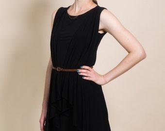 Little Black dress, knitted dress, sexy short dress, women's tunic dress, gift idea for women, loose dress