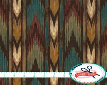 SOUTHWESTERN ARROW Fabric by the Yard, Fat Quarter TEAL & Brown Fabric Southwest Turquoise Fabric Quilting Fabric 100% Cotton Fabric t4-29