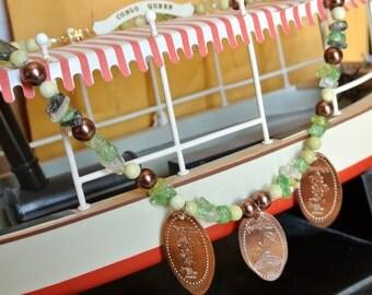 Adventureland Pressed Penny Necklace-Disneyland