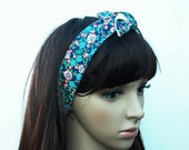 Rockabilly Head Wrap Dolly Bow Rosie Wrap for Women