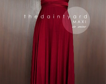 MAXI Wine Red Bridesmaid Dress Prom Dress Wedding Dress Infinity Dress Convertible Dress Wrap Dress Multiway Dress Cocktail Dress Maxi Dress