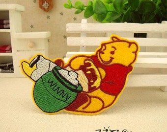 Winnie the Pooh Like Honey Iron on Patch Disney Applique CB119-3