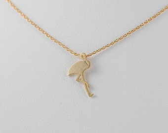 Fire Bird Flamingo Pendant Charm Necklace