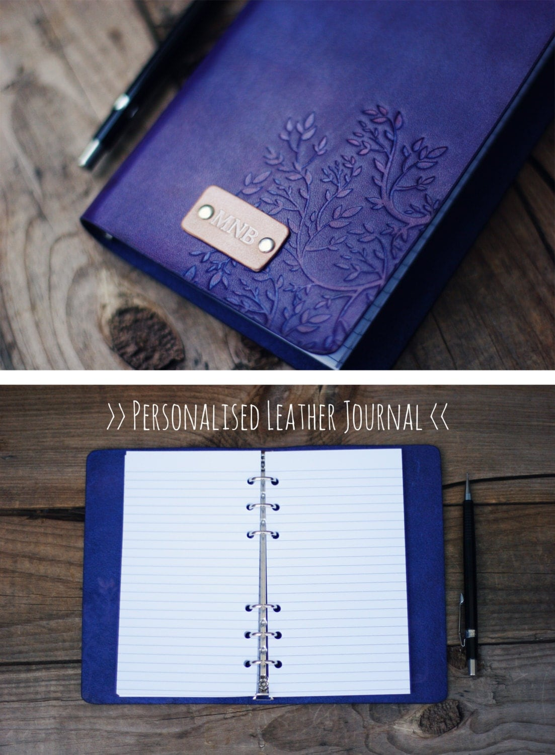 Leather Journal Personalized Notebook Travel Diary Journal