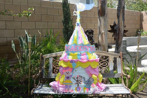 Carnival Pinata Circus Tent Pinata Girly & Circus Birthday Party Pinatas | Birthday Wikii