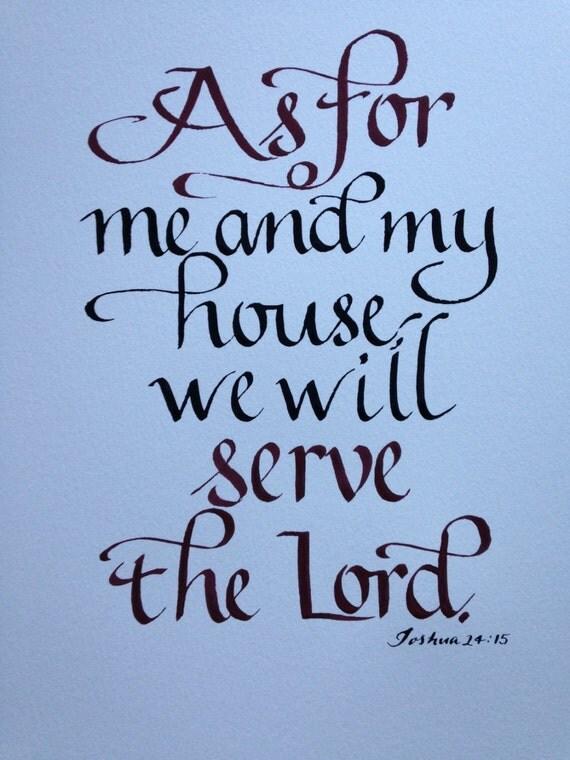 Custom Calligraphy Bible Verse Wall Art New Home 11 X 14