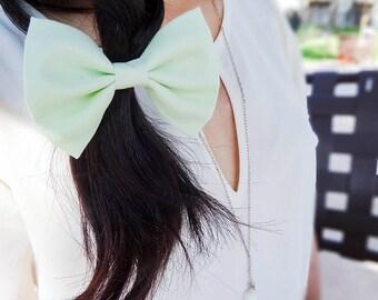 Minty Green Hair Clip Bow / Hair Bow / Hair Accessories