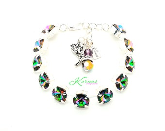 CRYSTAL ELECTRA 47SS Rivoli Bracelet Made With Swarovski Elements *Pick Your Finish *Karnas Design Studio *Free Shipping*