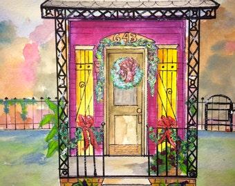 New Orleans Shotgun House Christmas 4