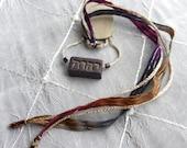 OOAK Fancy Maroon & Gold Polymer Clay Tetragrammaton Bookmark, YHWH, NWT New World Translation, Bible Bookmarks