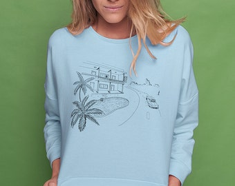 Wild at heart pastel sweatshirt