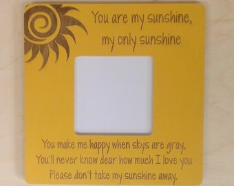 Picture Frame, You Are My Sunshine, Personalized Picture Frame