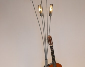 TALL SCULPTURAL cattail  floor lamp from the 70s