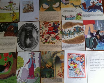 Vintage Paper Pack - 20 pages - B6 Size - Includes Wicked Witch of Oz , Noddy, Black Cat and much more!