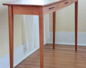 Bowed Front Hall Table