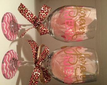 Forever Friends Wine Glasses