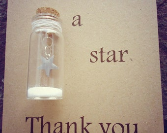 Thank you gift, you're a star friend, star gift. Can be personalised with your own message.