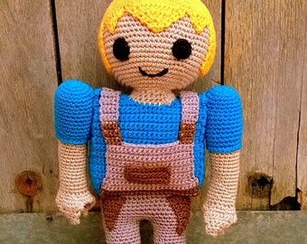 Playmobil amigurumi pattern. By Caloca Crochet.