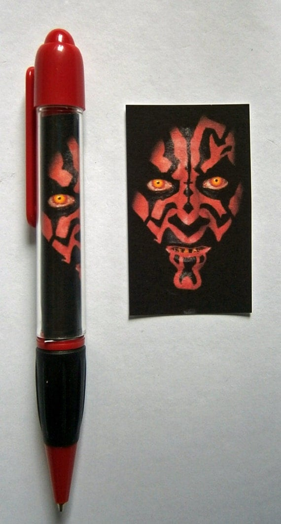 Star Wars Episode I The Phantom Menace movie poster Pen New - Darth Maul