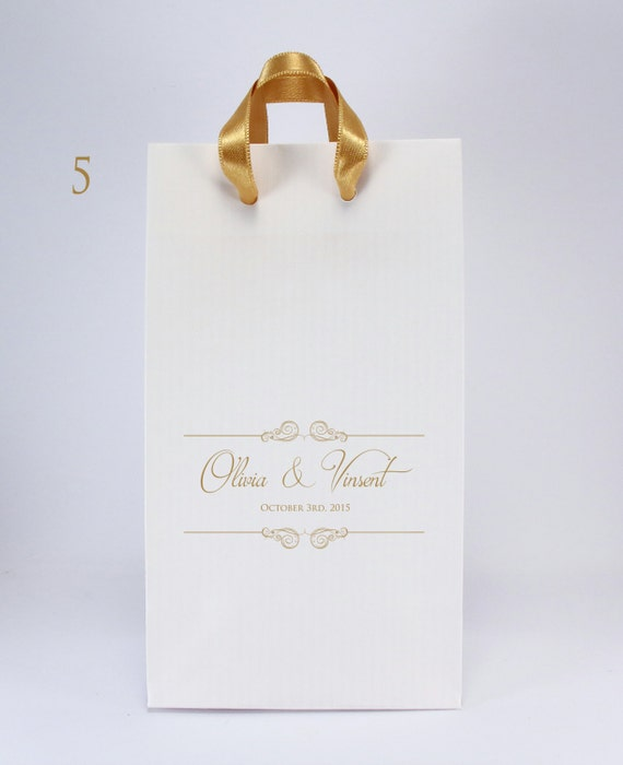 Wedding Gift Bags With Handles : Wedding Favor Bags with Handles100 Personalized Paper Gift Bags ...