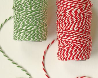 Bakers Cotton Twine 20m roll - 8 colours