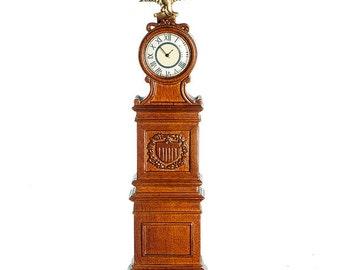 """1:12 Scale """"The Ohio"""" Clock in Walnut (Non-Working Clock)"""