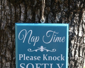Nap Time Door Sign 20 colors