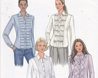 Butterick Sewing Pattern 4023 Lace Shirt, Pleated Front Shirt, Shirred Bodice Shirt Misses' Sizes 6 8 10