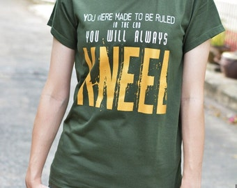 Loki you were made to be ruled in the end you will always kneel Gold ver. t-shirt short sleeve