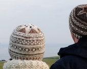 Fair Isle hat (Light) in pure Shetland wool.