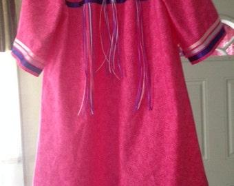 Girls American Indian Ribbon Dress