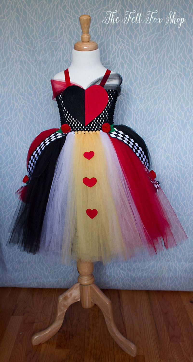 Queen of Hearts inspired tutu dress Black and by ...