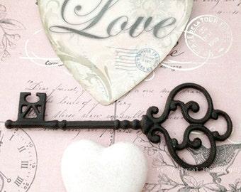 Love Heart Skeleton Key Photography, Shabby Chic Art, Valentine Love Art, Love Skeleton Key Art Print, Shabby Chic Art, Skeleton Key Photos