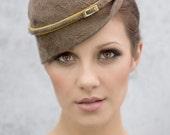 Mini Hat, Modern Womens Fashion Millinery, Retro Style Hat, 1940's Style Perch Hat, Fascinator Hat, Fall Fashion, Winter Hats  - Milli
