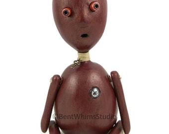 Whimsical Odd Art Doll - Obert Knob