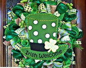 Irish Welcome St Patricks Day Wreath