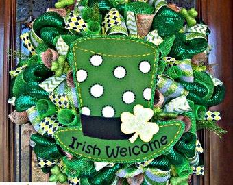 Irish Welcome St Patricks Day Wreath
