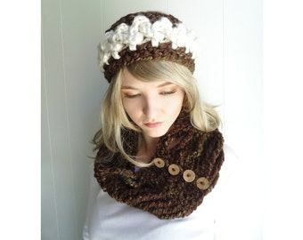 Crochet PATTERN  - Princess Braids Headband