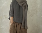 LINEN / WOOL Sarouel Harem Pants / Trousers