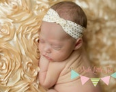 Baby Turban Headband - Gold Headband - Newborn Headband - Infant Headband - Bow - Baby Girl Headbands - Children - Baby Headband