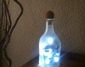 Patron Citronge, Mini Patron, Tequila Bottle, Alcohol Bottle Light, Patron Light, Home Decor, Recycled, Bar Light, Man Cave, Orange Liqueur.