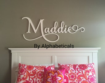 Personalized Baby Girl Nursery Decor Wood Letters Wall Letters