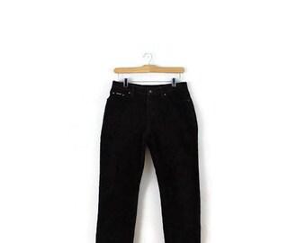 Ralph Lauren Dark Brown Corduroy Tapered pants from 90's /W 29*