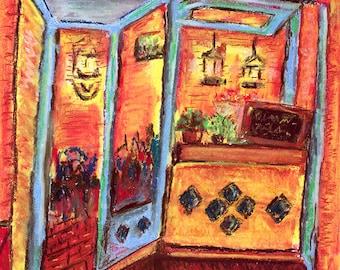 Granada print: Totes y Amigos bar, Granada, Spain
