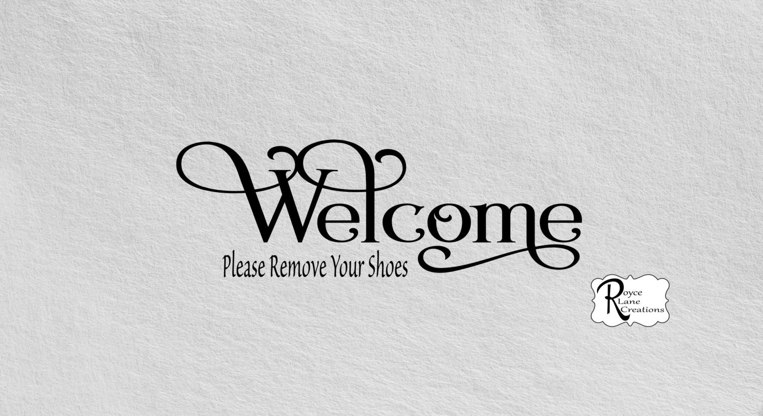 Welcome Please Remove Your Shoes B Vinyl Wall Decal - Custom vinyl wall decals logo   how to remove
